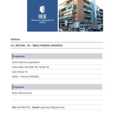 Informe de evaluación de edificios, Madrid