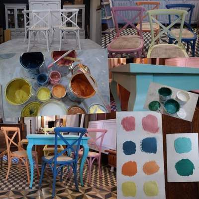 Mesa y sillas para zona de comedor en cocina. Parte 1.