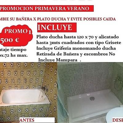 Cambio de una  bañera por ducha en Madrid