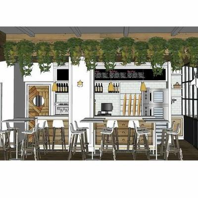 Proyecto de bar restaurante fromagerie en Madrid