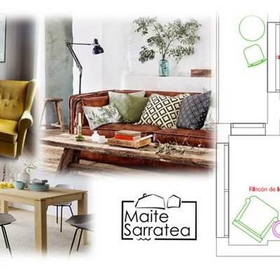 Proyecto de interiorismo y decoracion Online. Vivienda de 100 m2.