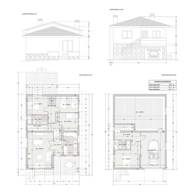 Proyecto de demolición de vivienda unifamiliar existente