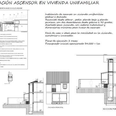 Proyecto de ampliación e instalación de Ascensor en vivienda unifamiliar