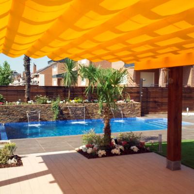 Diseño jardin con piscina en Rivas Vaciamadrid