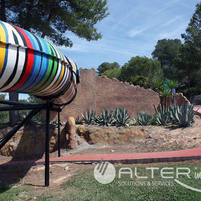 Tematización Aqualeon Water Park 2015 en Tarragona