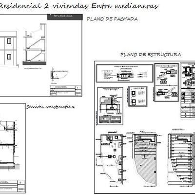 Proyecto residencial Vivienda entre medianeras