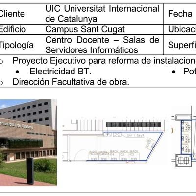 Proyecto y Direccion Facultativa para Reforma de instalación eléctrica de SAIS para racks (2013)