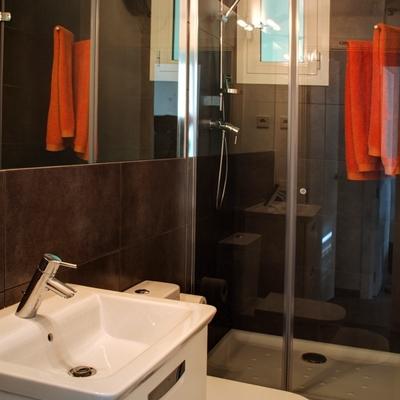 Baño pequeño y funcional
