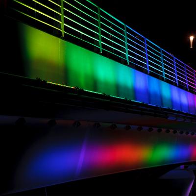 Iluminación del Puente Györ en Jedlik, Hungría