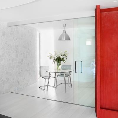 puerta corredera de vidrio