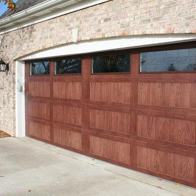 Puerta garaje imitación madera