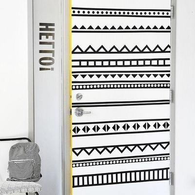 Puertas con papel pintado