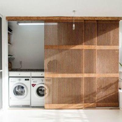 Puertas correderas de madera con ventilacion