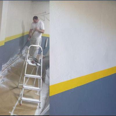 Quitar humedades y pintar garaje