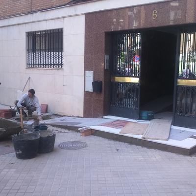 Construcción de rampa
