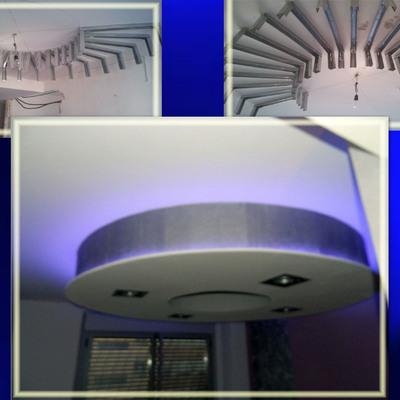Realizacion de boveda de pladur con focos e iluminacion indirecta