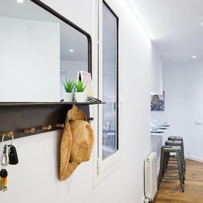 Mobiliario para un recibidor estrecho