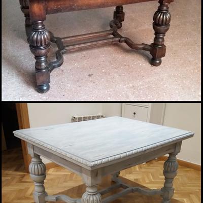 Reciclaje de mesa estilo clásico