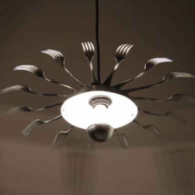 reciclar-lamparas-tenedores