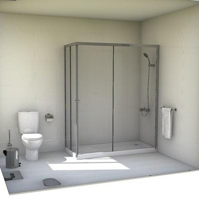 Reforma completa de baño en vivienda