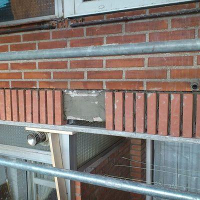 Mantenimiento y reparación de fachada de ladrillo visto