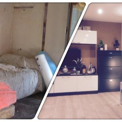 Reforma de habitación de casa antigua a salón nuevo