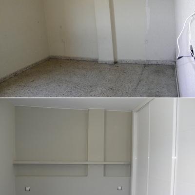 Alisado y pintura. Antes y después.