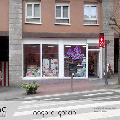 Proyecto de reforma y acondicionamiento de local para convertirlo en tienda de chuches en Santurce, Vizcaya.