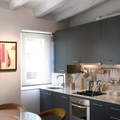 Reforma total, detalle Cocina en Loft en Barcelona