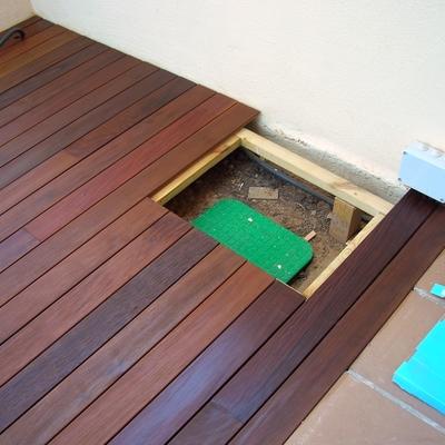 registro para facilitar el acceso a  la arqueta de el riego.