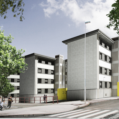 Rehabilitación de 14 bloques de viviendas del poblado de Inuesa, Lloreda (Tremañes) Gijón