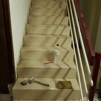 Rehabilitacion de tramo de escalera