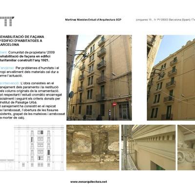 Rehabilitación De Fachadas En Edificio De Viviendas