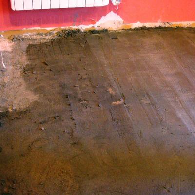 Rehabilitación de suelos en casa de pueblo 3 soleras