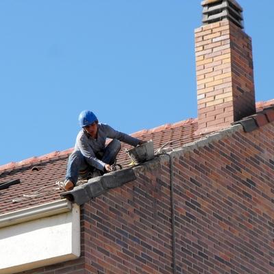 de tejado durante la obra