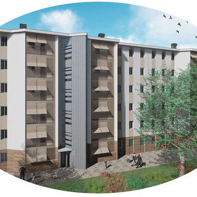 Rehabilitación energética de vivienda plurifamiliar en bloque
