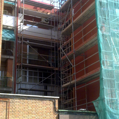 rehabilitacion fachada en monocapa raspada y china