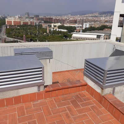 recuperación rejillas de ventilación, en AV Diagonal