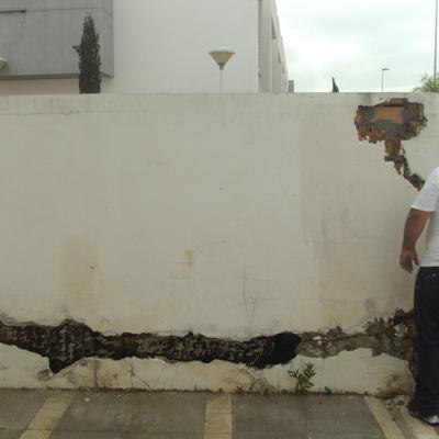 Reparación y saneado de paramento de muro