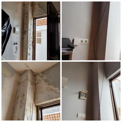 Localización  de fuga en edificio y reforma apartamento dañado de dicha fuga