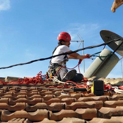 Reparación de chimenea, Salida de Humos