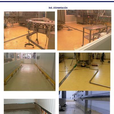 reparación suelo industria alimentación con pavimento epoxi
