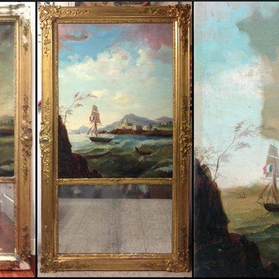 Restauración de arte pictórico y marco
