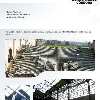 DESMONTAJE DE CUBIERTA DE FIBROCEMENTO EN AZUCARERA