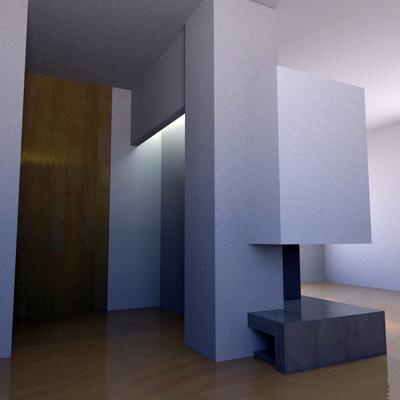 Revestimiento Chimenea Villa-real. Diseño 3D Vista Trasera