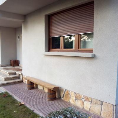 Revestimiento de fachada con corcho proyectado