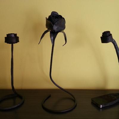 Roses de ferro forjat