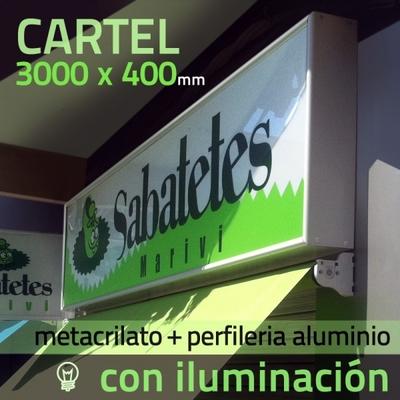 Rotulo luminoso / Cartel luminoso / Rótulos luminosos 3000 x 400