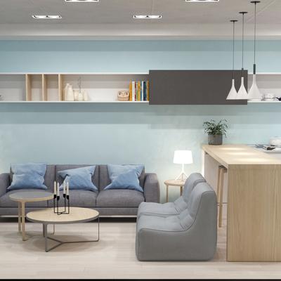 Sala multifuncional en sótano de vivienda