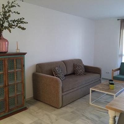 Acogedor apartamento en Marbella, nórdico y vintage